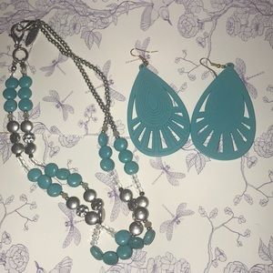 Jewelry - Marina necklace and joquelle earrings